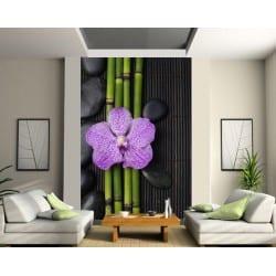 Stickers géant déco : Fleur bambou