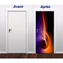 Sticker pour porte plane Design