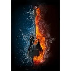 Stickers muraux déco : guitare