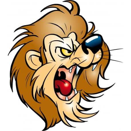 sticker Autocollant lion