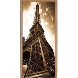 Stickers pour porte plane Tour Eiffel
