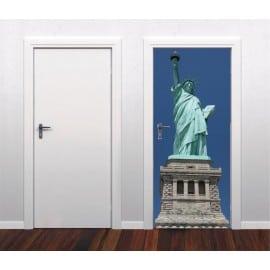 Sticker pour porte plane Statue de la Liberté