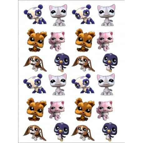 sticker Autocollant Littlest Pet Shop
