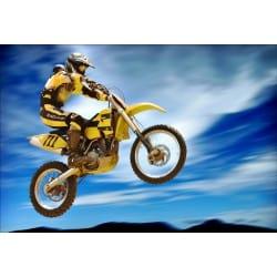 Stickers muraux déco : motocross