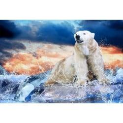 Stickers muraux déco : ours polaire