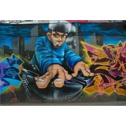 Stickers muraux déco: tag graffiti DJ