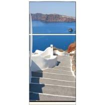 Sticker frigo déco escaliers vue sur la mer 70x170cm 583