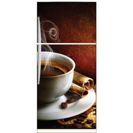 Sticker frigo déco tasse à café 70x170cm