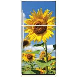 Sticker frigo déco fleur de tournesol 70x170cm