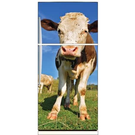 Sticker frigo déco vache 70x170cm