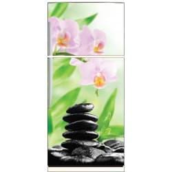 Sticker frigo déco galets orchidée 70x170cm