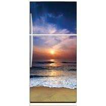 Sticker frigo déco couché de soleil 70x170cm