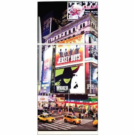 Sticker frigo d co new york 70x170cm art d co stickers - Frigo 70 cm de large ...