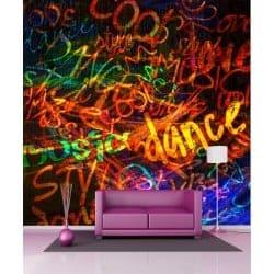 Stickers géant déco : tag graffiti