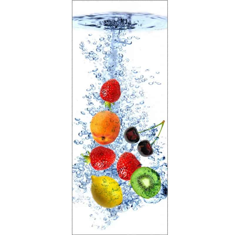 Stickers porte d co cuisine fruits art d co stickers for Stickers pour porte de cuisine