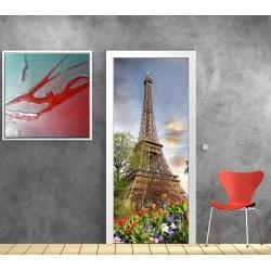 Stickers porte déco Paris Tour Eiffel