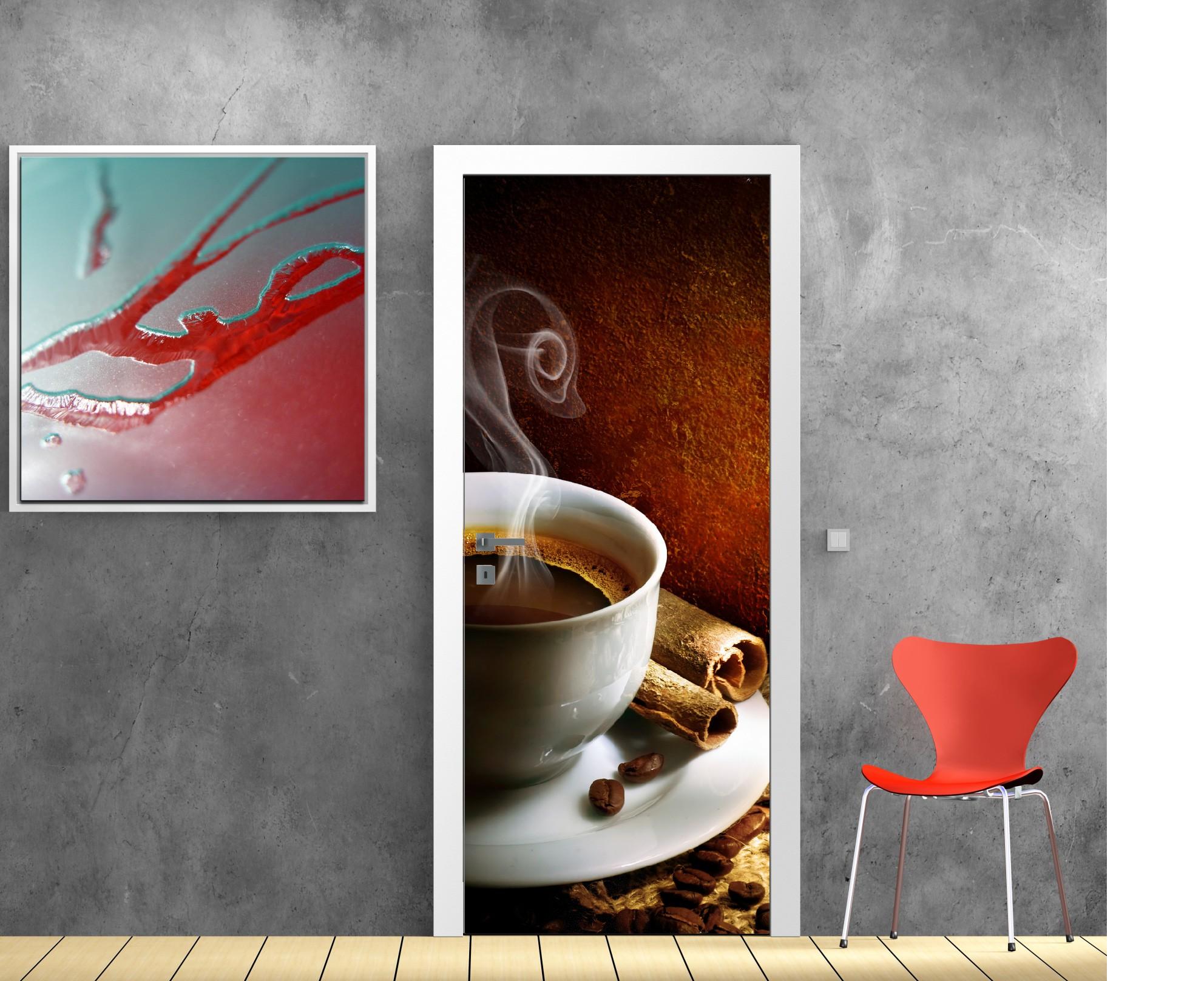 Stickers porte déco cuisine Café - Art Déco Stickers