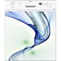 Sticker Lave Vaisselle Design Bleu