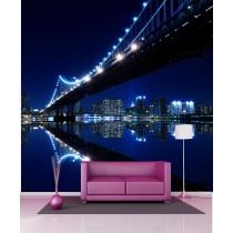 Stickers géant déco : pont de New York la nuit