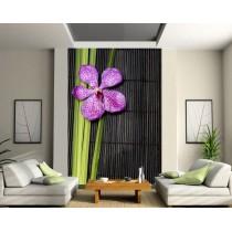 Stickers géant déco :orchidée bambou