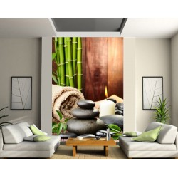 Stickers géant déco : galets bambou