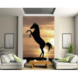 Stickers géant déco : cheval debout