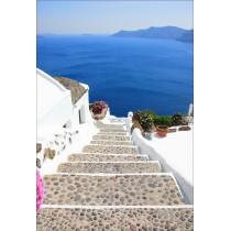 Stickers géant déco : escalier vue sur la mer