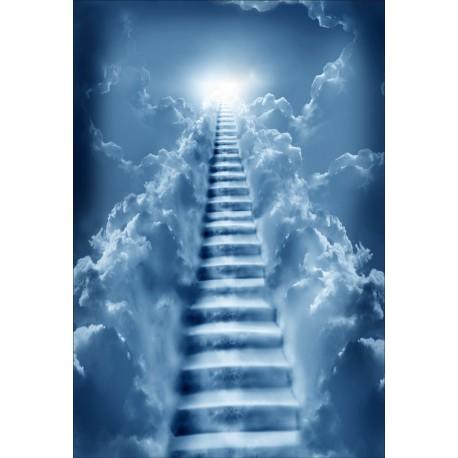 Stickers géant déco : escaliers vers le ciel