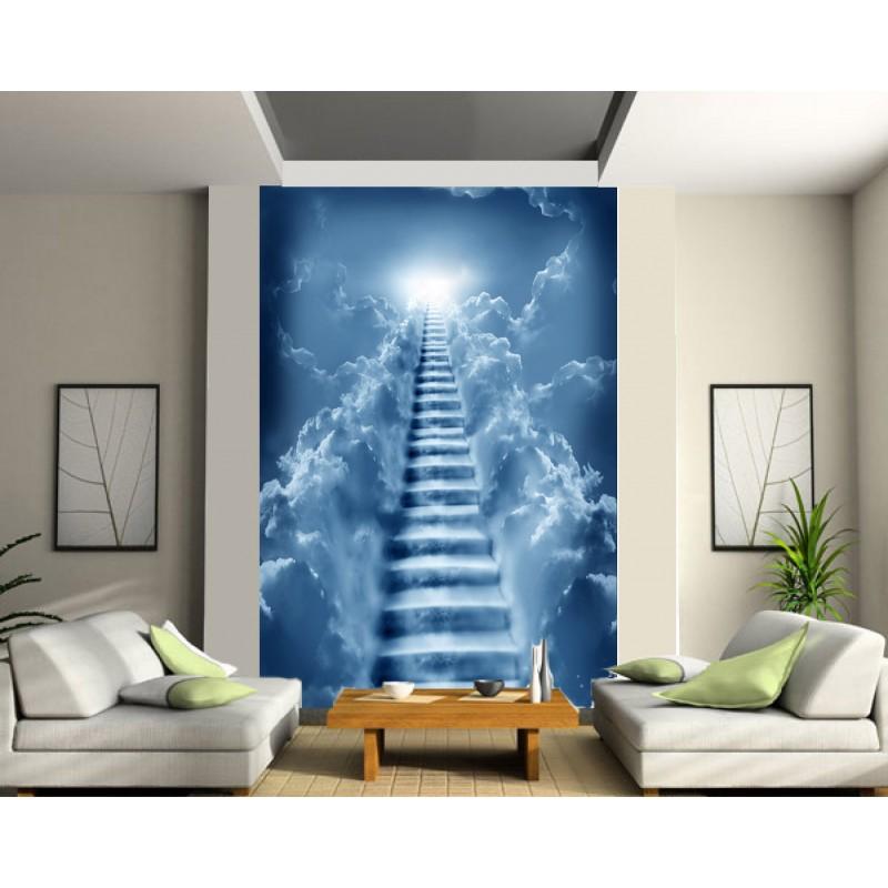 stickers géant déco : escaliers vers le ciel - art déco stickers - Decoration Stickers Muraux Adhesif
