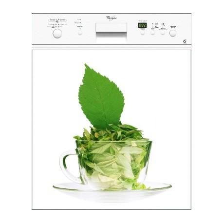 Sticker Lave Vaisselle Thé Vert