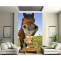 Stickers géant déco : cheval sourire