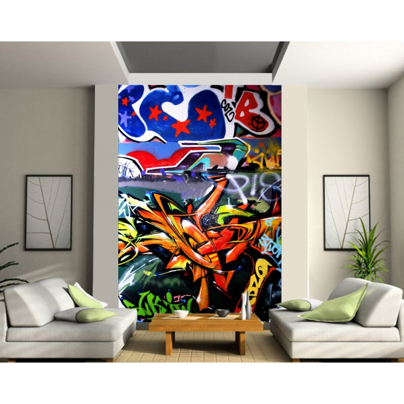 Stickers g ant d co tag graffiti art d co stickers - Sticker mural geant ...