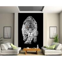 Stickers géant déco : tigre blanc