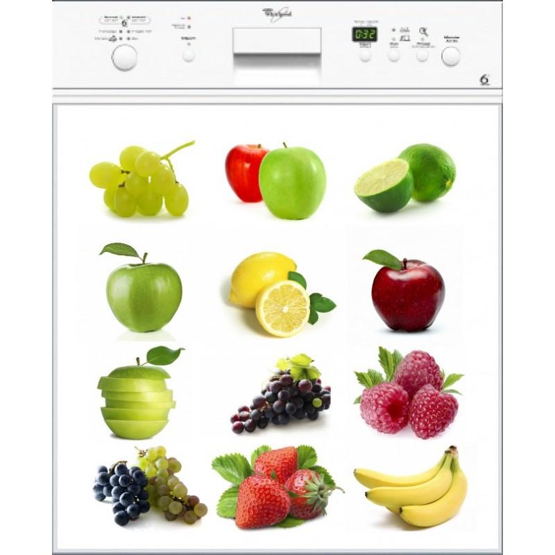 Sticker lave vaisselle multifruits art d co stickers for Mon lave vaisselle fuit