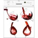Sticker Lave Vaisselle Vin Rouge