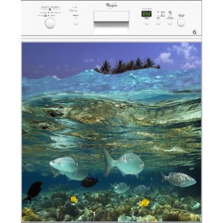 Sticker Lave Vaisselle Aquarium