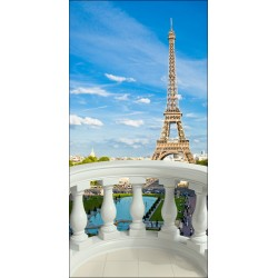Stickers déco trompe l'oeil - Paris Tour Eiffel