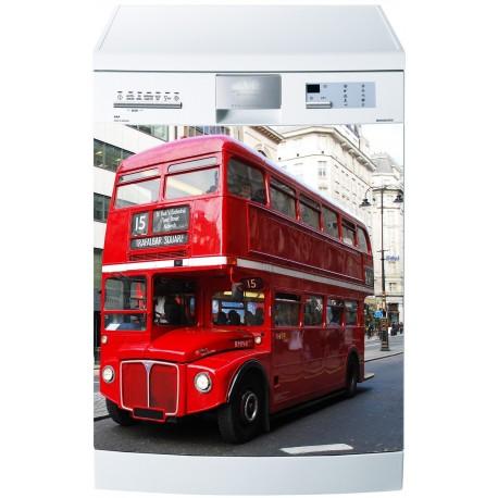 Stickers lave vaisselle ou magnet lave vaisselle Bus anglais - Art ...