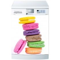 Stickers lave vaisselle ou magnet lave vaisselle Macarons
