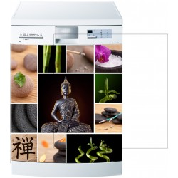 Stickers lave vaisselle ou magnet lave vaisselle Bouddha