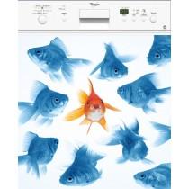Sticker Lave Vaisselle Poissons Bleu