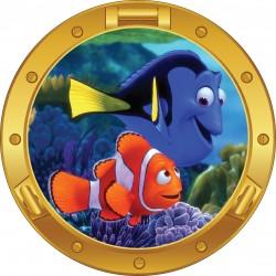 Sticker hublot enfant Némo poissons
