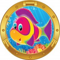 Sticker hublot enfant poisson