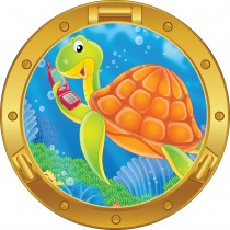 Sticker hublot enfant Tortue