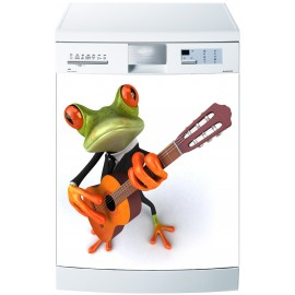 Stickers lave vaisselle ou magnet lave vaisselle Grenouille guitare