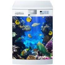 Stickers lave vaisselle ou magnet lave vaisselle poissons tropicaux