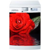 Stickers lave vaisselle ou magnet lave vaisselle Rose
