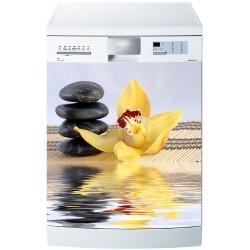 Stickers lave vaisselle ou magnet lave vaisselle Fleur