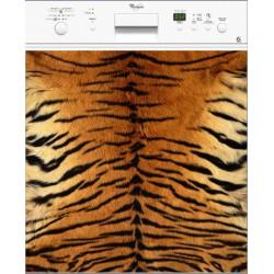 Sticker Lave Vaisselle Peau de Tigre
