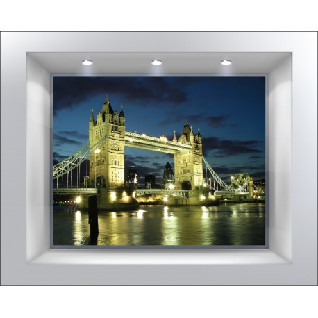 stickers muraux d co trompe l 39 oeil londres london art d co stickers. Black Bedroom Furniture Sets. Home Design Ideas